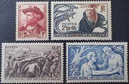 R1949/894 - 1941 - DIVERS - N°495 à 498 NEUFS** - France
