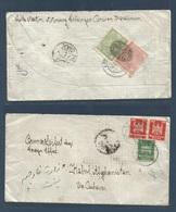 AFGHANISTAN. 1926 (25 Oct) Altenburg, Germany - Kabul. Via Peshawar, Pakistan. Fkd Env + Reverse Tramited + Arrival (x2) - Afghanistan