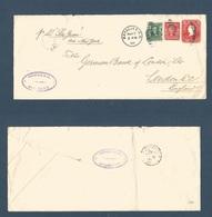 PUERTO RICO. 1908 (7 March) Mayaguez - Londres, UK. (26 March 30) Entero Postal 2c Washington Rojo Legal Size + 1c + 2c, - Puerto Rico