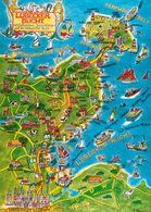 1 Map Of Germany * 1 Ansichtskarte Mit Der Landkarte - Lübecker Bucht, Ostholstein, Insel Fehmarn Und Hohwachter Bucht * - Carte Geografiche