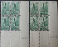 R1949/900 - 1942 à 1943 - ARRAS - N°567 BLOCS NEUFS** CdF Datés - Esquina Con Fecha