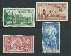 SENEGAL 1942 . Poste Aérienne N° 18 , 19 , 20 Et 21 . Neufs * (MH) - Poste Aérienne