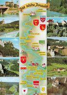 1 Map Of Germany * 1 Ansichtskarte Mit Der Landkarte - Das Schöne Donautal * - Landkarten