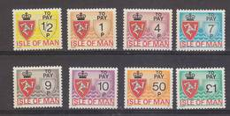 Isle Of Man 1975 Postage Due 8v ** Mnh (42906B) - Man (Eiland)