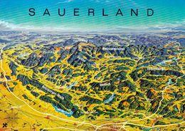 1 Map Of Germany * 1 Ansichtskarte Mit Der Landkarte - Sauerland * - Landkarten