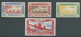 SENEGAL 1942 . Poste Aérienne N°s 27 , 28 , 29 Et 30. Neufs ** (MNH) - Posta Aerea