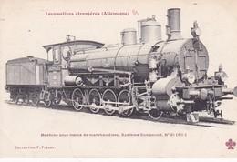 Locomotive Trains De Marchandises Système Compound  Locomotive Allemande- Deutsch Lokomotive - Trains