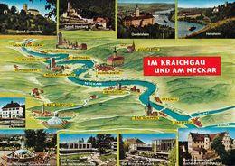 1 MAP Of Germany * 1 Ansichtskarte Mit Der Landkarte - Im Kraichgau Und Am Neckar * - Landkarten