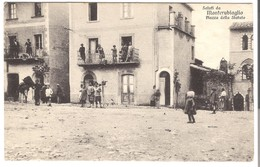 Saluti Di Monterubiaglio - Piazza Delle Statute V. 1920 (3448) - Italy