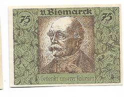 ALLEMAGNE / GERMANY - BISMARCK / AFRIKA  KOLONY - 75 PFENNIG 1922 / SERIE A - [12] Colonies & Foreign Banks