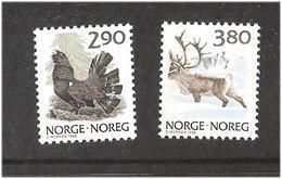 Norway 1988 Bird Western Capercaillie, Tetrao Urogallus, Reindeer, (Rangifer Tarandus) Mi  986-987, MNH(**) - Norvège