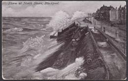 Pcd116 Postcard Storm At North Shore, Blackpool, UK, Unused - Blackpool