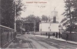 A,NGLETERRE ,,,,,LOWESTOFT ,,,,,  HIGH    LIGTHOUSE ,,,,VOYAGE   1913,,  TBE,,, TRAM,,, - Lowestoft