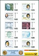 GAUSS, C.F. - Sheetlet Of 10 Different Gauss-stamps - Mathematics, Mathematician - Marken Individuell - Wissenschaften
