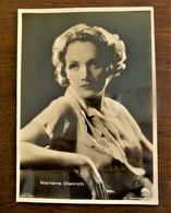Originele  Oude FOTO --Postkaart Wit -- Zwart   MARLENE DIETRICH - Femmes Célèbres