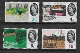 Great Britain, EIIR, Geographical Congress, Set Of 4, Phosphorous, MNH **o - 1952-.... (Elizabeth II)