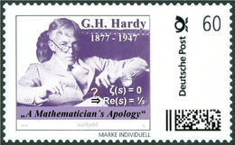 """HARDY, G.H. - Riemann Hypothesis, """"A Mathematician's Apology"""" - Mathematician, Mathematics - Marke Individuell - Wissenschaften"""