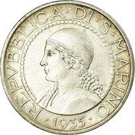 Monnaie, San Marino, 5 Lire, 1935, Rome, TTB+, Argent, KM:9 - Saint-Marin