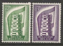 EUROPA - CEPT 1956 - Belgique - 2 Val Neufs // Mnh // CV €15.00 - 1956