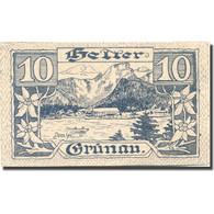 Billet, Autriche, Grünau, 10 Heller, Montagne 1920-11-31, SPL Mehl:FS 300b - Oesterreich