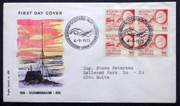 Greenland    1975    Cz.Slania Telecommunications Minr.94  FDC   ( Lot 6680 )FOGHS COVER - FDC