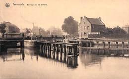 Termonde - Barrage Sur La Dendre (animatie, Edit. Vve Legat ) - Dendermonde