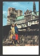 Paris - Les Bouquinistes Et Notre-Dame - 1959 - éd. Albert Monier - Glossy - Notre-Dame De Paris