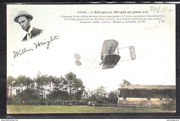 1468  AVIATION  AV014 AK PC CARTE L AEROPLANE DE WRIGHT EN PLEIN VOL NON CIRCULER TTB - ....-1914: Precursori