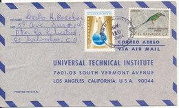 El Salvador Air Mail Cover Sent To USA 10-11-1964 Topic Stamps BIRD And MAP - Salvador