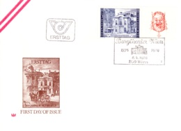 1976  Burgtheater - Satz (2) FDC (ANK 1525/1526, Mi 1507/1508) - FDC