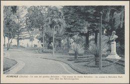 Un Viale Del Giardino Belvedere, Acireale, C.1910s - Grand Hôtel Des Bains Cartolina - Acireale