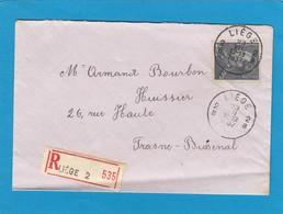 LETTRE RECOMMANDÉE DE LIÈGE POUR FRASNES -LES-BUISSENAL,1937. - Belgium