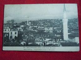 CARTOLINA IGRECIA SALONICO FOTO REALE MOSCHEA  MIARETTI - Grecia