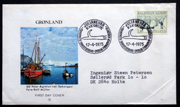 Greenland 1975 Mail Transport By Boat (Søkongen). Minr.93  FDC  Cz.Slania  ( Lot Ks )FOGHS COVER - FDC
