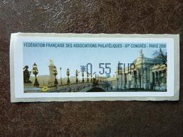 2008 LISA1 FFAP CONGRES PARIS  0,55€ (vendue à La Valeur Faciale)  ** MNH - 1999-2009 Vignettes Illustrées