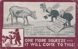 """Anti """"Milk"""" Trust& Anti """"Butter"""" Trust , 1919 - Satirical"""