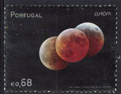 Portugal 2009 Oblitéré Used Astronomie Europa 3 Trois Planètes SU - Oblitérés
