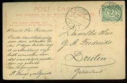 HANDGESCHREVEN BRIEFKAART Uit 1907 Gelopen Van LEIDEN Naar DRUTEN (11.561L) - Periode 1891-1948 (Wilhelmina)