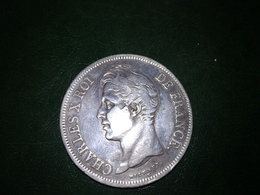5 Frs Charles X 1827 W - J. 5 Francs