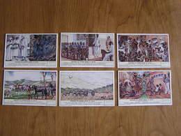 LIEBIG Histoire Du Congo Belge 3 ème Partie Afrique Belgique Colonie Série De 6 Chromos Trading Cards Chromo - Liebig