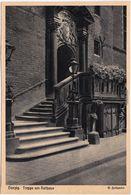 Postcard Danzig Gdańsk/Gduńsk Treppe Am Rathaus 1935  - Danzig