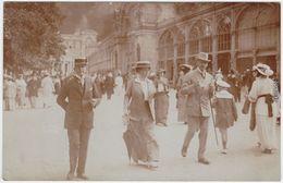 Marienbad Mariánské Lázně Promenadenpartie - Belebt - Privatfotokarte 1920  - Tchéquie