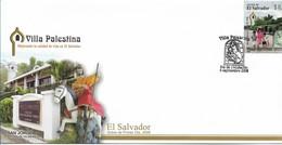 EL SALVADOR 2008 FDC Villa Palestina, Virgen And Child On Cancel, San Jorge, Religion, Places - El Salvador