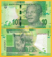 South Africa 10 Rand P-138b 2015 UNC Banknote - Zuid-Afrika