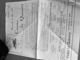 PROGRAMME OFFICIEL COURSES DU QUESNOY (NORD) DIMANCHE 20 MAI 1956 - Programmes