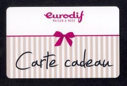 Carte Cadeau  EURODIF.   Gift Card. - Cartes Cadeaux