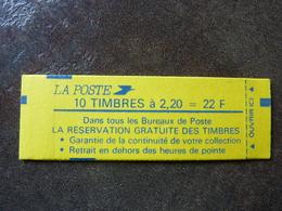 1985 Liberté De Delacroix 2,20F Rouge  LA RESERVATION GRATUITE DES TIMBRES Y&T= 2376-C11  Conf 9   ** MNH - Carnets
