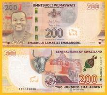 Swaziland 200 Emalangeni P-new 2017 (2018) UNC Banknote - Swaziland