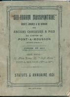 """54) Livret  Annuaire & Statuts De La """"SIDI-BRAHIM MUSSIPONTAINE"""" 1921- Pont-à-Mousson - Anciens Chasseurs à Pied (84 Pag - Documentos"""