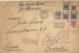 Enveloppe Affranchie Brésil à Destination De La Suisse - Brésil